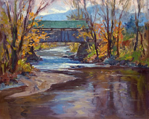 Eric Tobin Covered Bridge painting