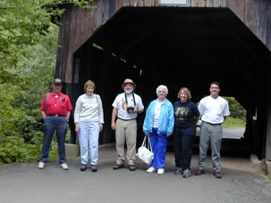 2nd All Member Meeting at the Canyon Bridge. Photo by Joe Nelson, July 14, 2001