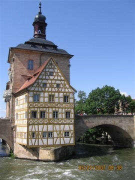 Bamberg Town Hall. Photo by the Keatings, May 2007