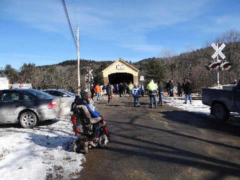 Bartonsville bridge opening day, 01/26/2013