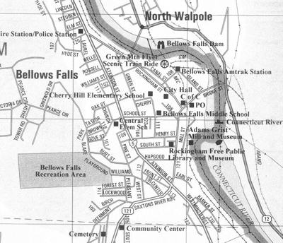 Map of Bellows Falls, Vt.