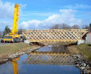 Boonville NY's New Bridge. Photo by Dick Wilson, November 19, 2004