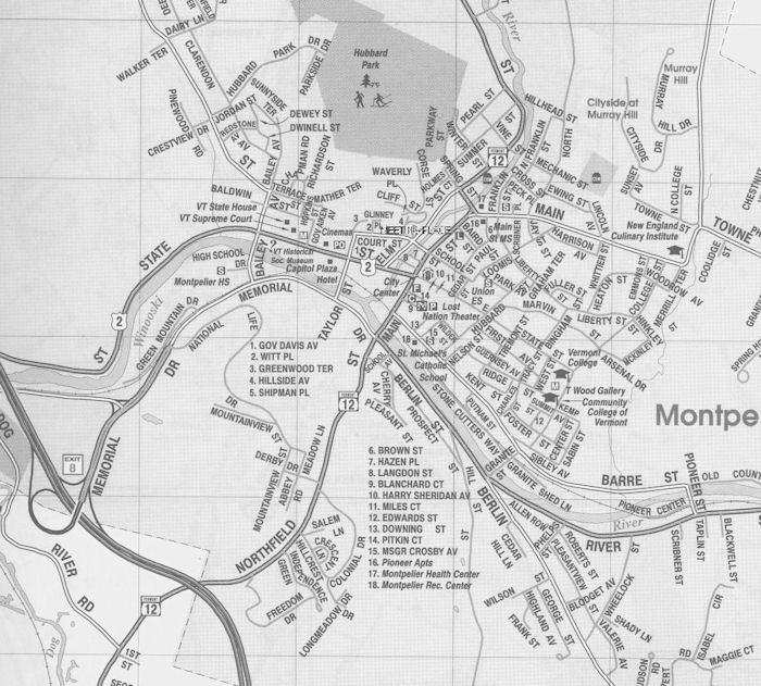 Map of Montpelier