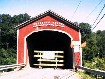 Buskirk Covered Bridge. Photo by Dick Wilson August 14, 2002