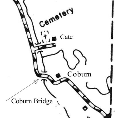 Coburn Bridge location map
