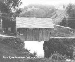 Clyde River Covered Bridge postcard