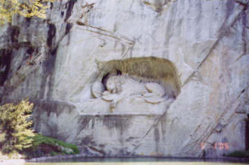 Dying Lion Monument. Photo by Lisette Keating April, 2005