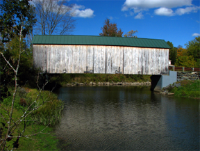 East Fairfield covered bridge by Bill Caswell