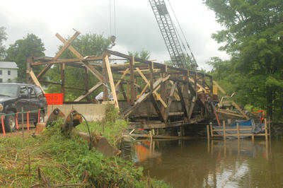 East Fairfield Bridge. Photo by Joe Nelson, August 7, 2008