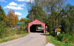 Fairfax covered bridge by Bill Caswell