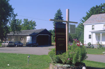 The Ferrisburgh Artisans Guild Gallery and covered bridge