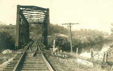 Railroad & Covered Bridge in Fowler, Vermont.