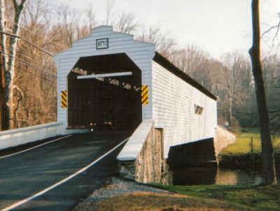 Gibson Covered Bridge. Photo by Sandy Adrion, April 2004