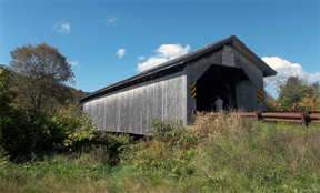 Hopkins covered bridge by Bill Caswell