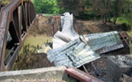 Humpback covered bridge after the fire