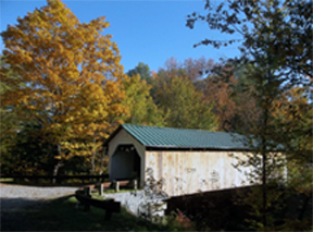 Hutchins covered bridge by Bill Caswell