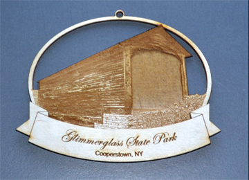 Hyde Hall Christmas Ornament