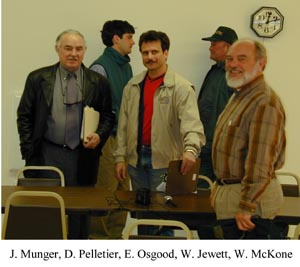 Covered Bridge meeting at Johson, Vt. Photo by Joe Nelson April 18, 2001