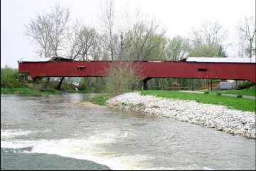 Mansfield Bridge. Photo by Andy Rebman, April 14, 2006