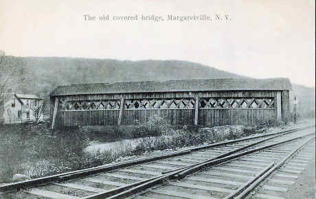 Margaretville, NY Covered Bridge post card
