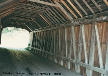 Mill Bridge Interior. Photo by Joe Nelson, June 1992