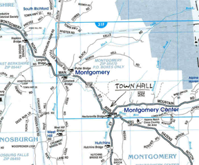Map to Montgomery, VT