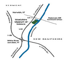Map to Montshire Museum