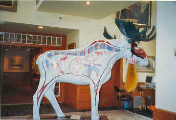 Moose at Bennington Center for the Arts. Photo by Liz Keating, September 14, 2005