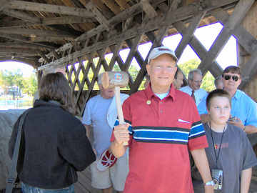 Erwin Park Covered Bridge dedication
