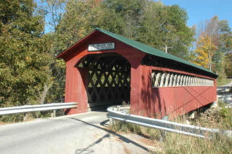 Chiselville Bridge. Photo by Richard StPeter, October, 2007