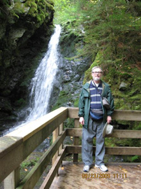 Dickson Falls and Tom. Photo by the Keatings September 23, 2009