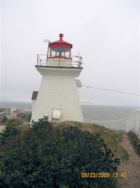Cape Enrage Light House. Photo by the Keatings September 23, 2009