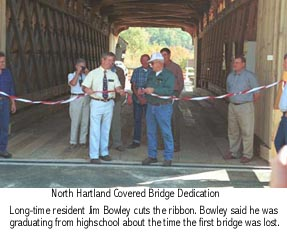 Hartland Bridge Opening Photo by Joe Nelson October 13, 2001