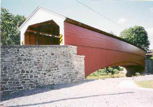 Pleasantville Covered Bridge. Photo by P. Tabor, June 12, 2004.