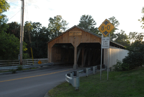 Pulp Mill covered bridge by Richard St. Peter