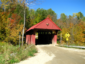 Red covered bridge by Bill Caswell