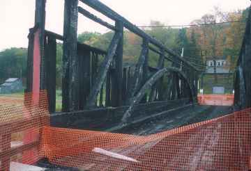 Ryot Bridge, Bedford County, Pa.<br>Photo by Joe Nelson, 10/16/02