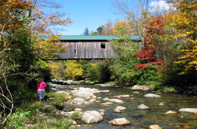 Scott covered bridge by Bill Caswell