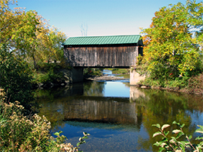 Scribner covered bridge by Bill Caswell