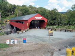 Taftsville covered bridge - work completed