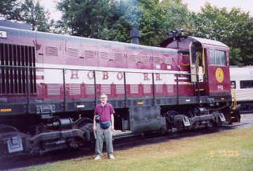 Tom and the Hobo Railroad. Photo by Liz Keating, September 18, 2005