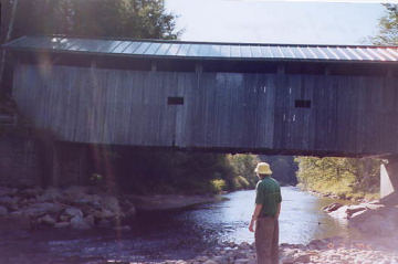 Tom and the Morgan Bridge. Photo by Liz Keating, September 21, 2005