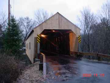 Union Village Bridge (45-09-02)<br>Union Village, Vt.<br>Photo by Tom Chase, 11-13- 02