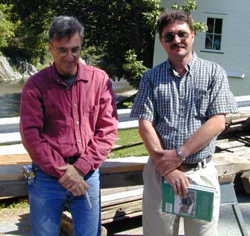 Left to right: Jan Lewandoski and Phil Covelli. Photo by Joe Nelson, July 5, 2000