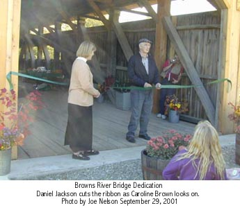 Westford Bridge ribbon cutting. Photo by Joe Nelson, 9-29-01
