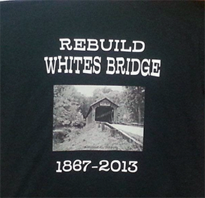 Whites covered bridge shirt design #1