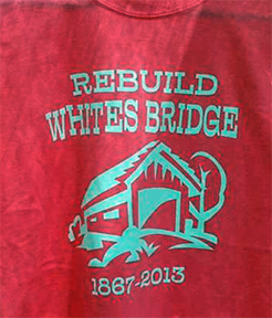 Whites covered bridge shirt design #2